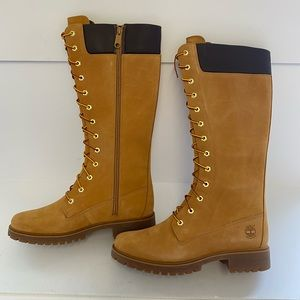 TIMBERLAND KNEE HIGH WOMENS SIZE 10 BOOTS WHEAT